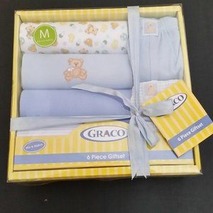 NEW Graco Baby 6 Piece Gift Set 3-6 M